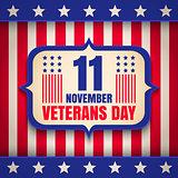 Poster for Veterans day