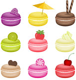 Pretty decorated macaroons