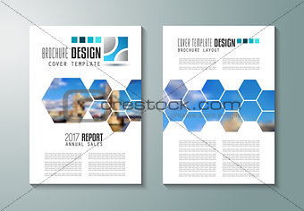 Brochure template, Flyer Design or Depliant Cover for business purposes
