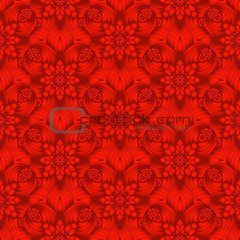 Bright red gradient seamless pattern