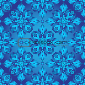 Bright Blue Gradient Seamless Pattern