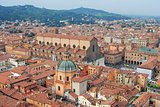 Bologna city center in Italy.