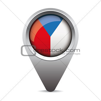 Czech republic - Czechia flag pointer vector