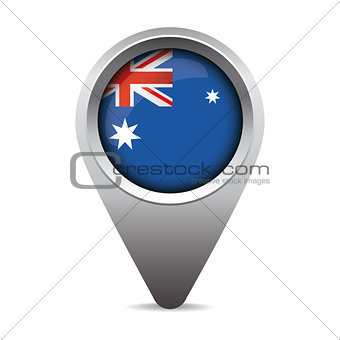Australia flag pointer vector