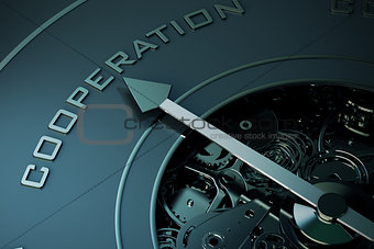 3D Rendering of cooperation compass