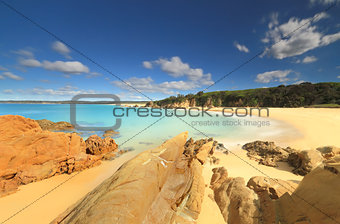 Crystal clear aqua waters of Jagger Beach