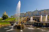 Grand Peterhof Palace, the Grand Cascade and Samson Fountain