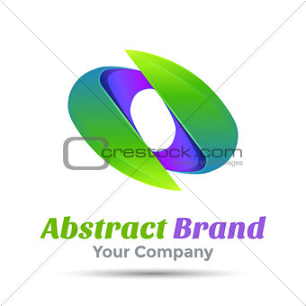 Abstract Sign Logo Template. Vector business icon. Corporate branding identity design illustration for your company. Creative abstract concept.