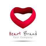 Heart Logo design vector template. Happy Valentines Day concept. Love Logotype icon. business. Corporate branding identity illustration for your company. Creative abstract.