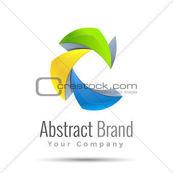 abstract Vector business icon. Corporate branding identity design illustration for your company. Creative abstract concept.