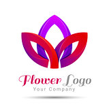 Lotus Logo flower Beauty Fashion logo template. Vector business icon. Corporate branding identity design illustration for your company. Creative abstract concept.