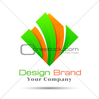 abstract colorful squares logo template. Vector business icon. Corporate branding identity design illustration for your company. Creative  concept.