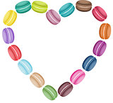 Macaroon label in heart shape