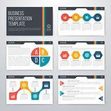 Infographics presentation template flat design