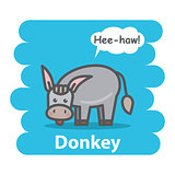 Donkey vector illustration