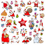cartoon christmas characters set