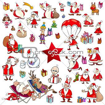 christmas cartoons set