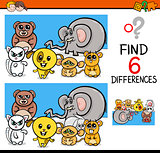 differences game with animals