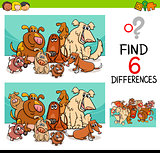 activity of differences with dogs