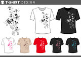 t shirt design with floral