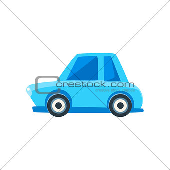 Blue Sedan Toy Cute Car Icon