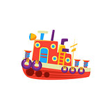 Steamer Fishing Toy Boat