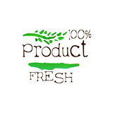 Percent Fresh Products Promo Sign