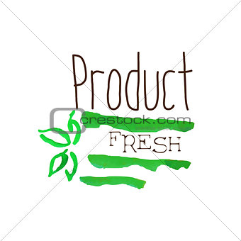 Green Fresh Products Promo Sign