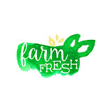 Farm Fresh Products Promo Sign