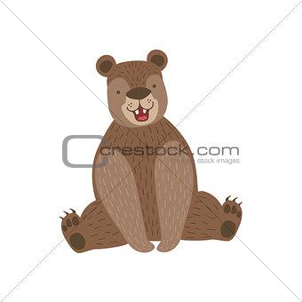 Sitting Brown Bear Smiling