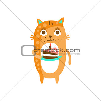 Cat With Party Attributes Girly Stylized Funky Sticker