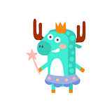Moose With Party Attributes Girly Stylized Funky Sticker