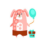 Dog With Party Attributes Girly Stylized Funky Sticker