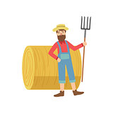 Farmer With The Beard  Hay Stack Roll