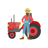 Bearded Farmer With Trucktor