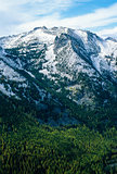 Beautiful October Mountain peak Dusted in Fresh White Snow