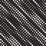 Vector Seamless Black And White Diagonal Lines Halftone Rhombus Pattern