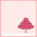 Cute macaroon background