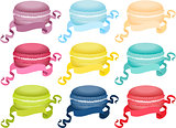 Set macaroon with ribbon