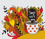 Have a nice day. Autumn doodle