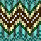 Seamless zigzag knitting pattern