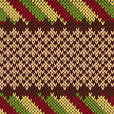 Seamless knitting pattern in warm colors