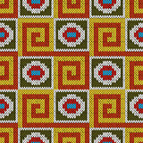 Seamless knitting geometrical colourful pattern
