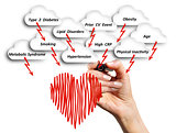 The risk of cardiovascular disease