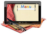 Restaurant Menu in the Tablet Computer