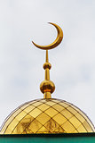 Golden dome of muslim temple in the Middle Volga
