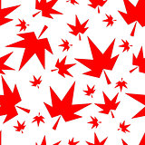 Autumn fall maple leaves seamless pattern background