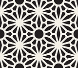 Vector Seamless Black and White Lace Floral Pattern