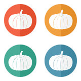 Pumpkin icon. Halloween symbol