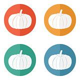 Pumpkin icon. Halloween symbol
